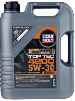 Масло Liqui Moly 5W30 7661D TOP TEC 4200 моторное синтетическое (5л)