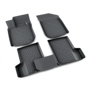 Коврики салона резина черный Рено Логан седан, универсал II 2013- 3D АГАТЭК A.005.0813.PL