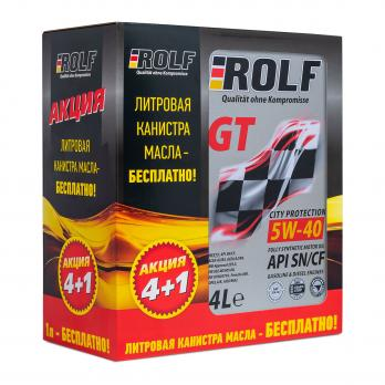 Масло ROLF 5W40 SN/CF моторное синтетическое (4л+1л)