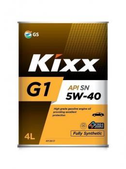 Масло Kixx 5W40 G1 SN/CF моторное, синтетическое (4л)