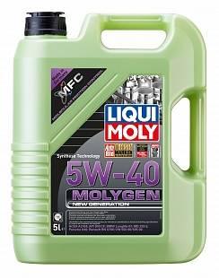 Масло Liqui Moly 5W40 Moligen new generation моторное, синтетическое (5л) 39023