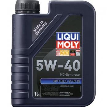 Масло Liqui Moly 5W40 Optimal Synth  мот синт (1л) 3925