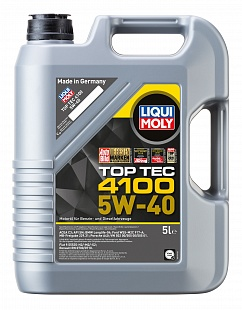 Масло Liqui Moly 5W40 Top Tec 4100 моторное, синтетическое (5л) 7501/3701