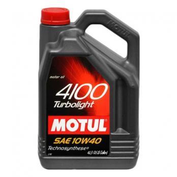 Масло Motul 4100 Turbolight 10W40 A3/B4 моторное, полусинтетическое (4л) MOTUL