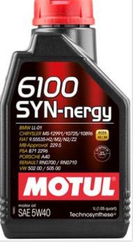Масло Motul 6100 Syn Nergy 5W40 моторное, синтетическое (1л)