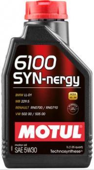 Масло Motul 6100 Syn Nergy SAE синтетическое 5W30 (1л)
