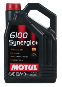 Масло Motul 6100 Syn Plus SAE моторное,полусинтетическое 10W40 (4л)
