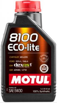 Масло Motul 8100 Eco-Lite 5W30 моторное, синтетическое (1л)