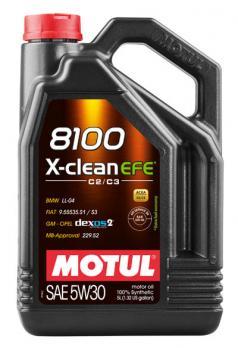 Масло Motul 8100 X-clean EFE 5W30 моторное, синтетическое (4л)