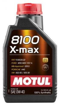 Масло Motul 8100 X-MAX 0W40 моторное, синтетическое (1л)