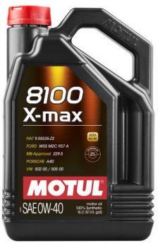 Масло Motul 8100 X-MAX 0W40 моторное, синтетическое (4л)