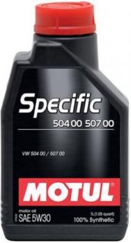 Масло Motul Specific 504/507 00 моторное, синтетическое 5W30 (1л)
