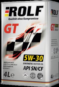 Масло ROLF GT 5W30 SN\CF моторное, синтетическое (1л) ROLF