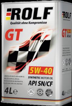 Масло ROLF GT 5W40 SN\CF моторное, синтетическое (3+1л) ROLF