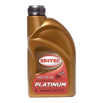 Масло Sintec Платинум 5W40 SG/CD моторное, синтетическое (1л)