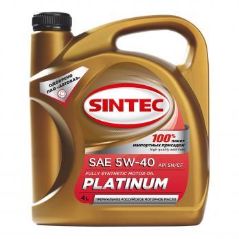 Масло Sintec Платинум 5W40 SG/CD моторное, синтетическое (4л)