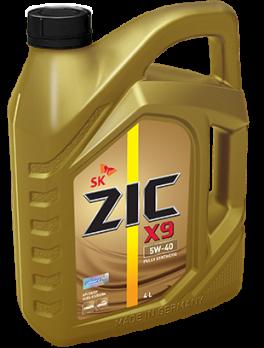 Масло ZIC X9 5W40 SN моторное, синтетическое (4л)