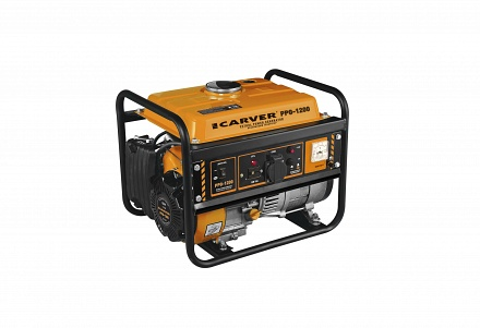 Генератор бензиновый CARVER PPG- 1200А (LT-156F, 0,9/1,05кВт, 220В, бак 6 л)