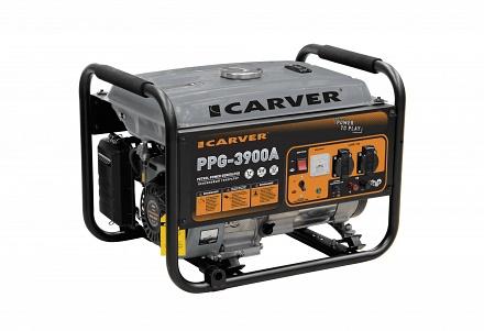 Генератор бензиновый CARVER PPG-3900А бак 15л (LT-170F, 2,9/3,2кВт, 220В)