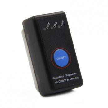 Адаптер (сканер ошибок) OBDII Elm327 Bluetooth с кнопкой V1.5